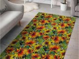 Best Price Large area Rugs Autumn Sunflower Pattern Gs Cl Dt2704 Rug Sport Decor Gift
