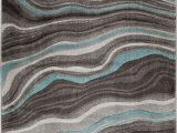 Better Homes and Gardens 5×7 area Rugs Better Homes & Gardens Gray & Aqua Waves area Rug Multiple Sizes Walmart