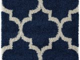 Better Homes and Gardens area Rug 5×7 116 Moroccan Navy Blue Shag Trellis Shag area Rug soft and Plush Pile 5×7 8×11
