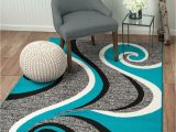 Better Homes and Gardens area Rug 5×7 Elite Collection Teal Grey Black Modern Swirl area Rug soft New Rug 8×11 5×7