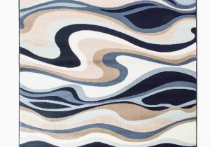 Better Homes and Gardens area Rug Waves Romance Collection Rugs Blue White Brown Absreact Wave Design Premium soft area Rug 2 X3 Door Scatter Mat