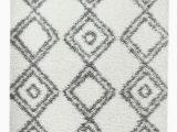 "Better Homes and Gardens Diamond Shag area Rug or Runner Super area Rugs Cozy Plush White & Grey Diamond Shag Rug 3 2"" X 5"