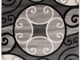 "Better Homes and Gardens Overlapping Medallion area Rug Modern Scroll Circles Design area Rug 5 3"" X 7 3"" Gray Walmart"