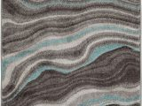 Better Homes and Gardens Waves area Rug Better Homes & Gardens Gray & Aqua Waves area Rug Multiple Sizes