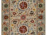 Better Homes Gardens Suzani Indoor area Rug Hand Tufted Wool Ivory Transitional Floral Suzani Rug Walmart