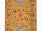 Better Homes Gardens Suzani Indoor area Rug Hand Tufted Wool Yellow Traditional Floral Suzani Rug Walmart