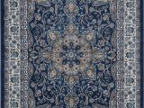 Birch Lane Rugs Blue andover Mills Tremont Fuller Navy Blue Brown area Rug