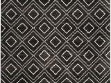 Black and Cream area Rug 8×10 Safavieh Tunisia Tun293f Anthracite Cream Rug