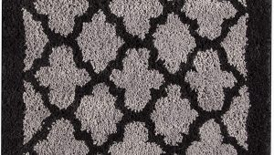 Black and Gray Bath Rugs Amazon Lattice 20 X 30 Bath Rug Black Grey Geometric