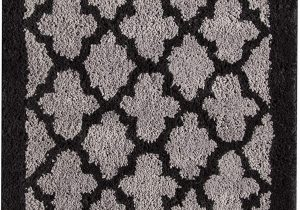 Black and Gray Bath Rugs Amazon Lattice 20 X 30 Bath Rug Black Grey Geometric