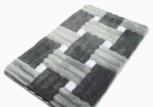 Black and Gray Bath Rugs Antibacterial Rectangle Non Slip Bath Rug Gray Black White Colors Walmart