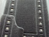 Black and Gray Bath Rugs Bath Mat Set Diamante Silver Grey