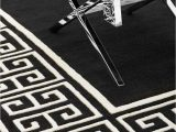 Black and Off White area Rugs Black & F White Rug