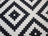 Black and White area Rugs Ikea Ikea Lappljung Ruta Rug Black White
