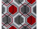 Black and White area Rugs Walmart Summit Collection Geometric Honey B Red Grey Red area Rug Walmart