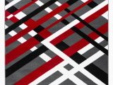 Black and White area Rugs Walmart Summit Collection Modern Abstract Gray Black Red and White area Rug Walmart