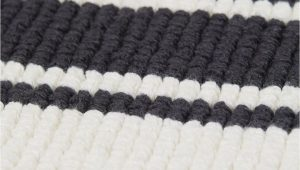 Black and White Bathroom Rug Runner Striped Bath Mat White Black Striped Home All