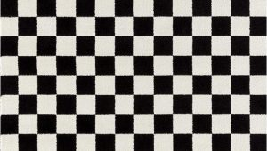 Black and White Checkered Bathroom Rug 1909 Checkered Black and White 5 X 7 area Rug Carpet