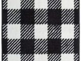 Black and White Checkered Bathroom Rug Amazon Hiend Accents Camille Kitchen and Bath Rug 24