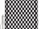 Black and White Checkered Bathroom Rug Amazon Shower Curtain Set with Bath Rug Modern Black