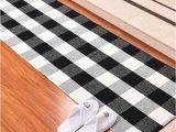 Black and White Checkered Bathroom Rug Us $13 02 Off Cotton Buffalo Plaid Rugs Black and White Checkered Rug Wel E Door Mat Rug Washable Woven Braided Throw Mat Rug Aliexpress