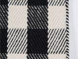 "Black and White Plaid area Rug A Scotch Please"" Black White Plaid Wool area Rug"