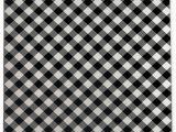 Black and White Plaid area Rug Graff Plaid Black White area Rug
