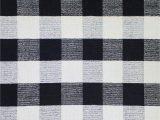 Black and White Plaid area Rug Pickering Plaid Handmade Wool Black area Rug