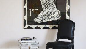Black and White Plush area Rug Geometric Handmade Tufted Black White area Rug