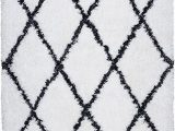 "Black and White Plush area Rug Rizzy Home Connex Collection Polyester area Rug 5 X 7 6"" White Gray Rust Blue Diamond"