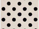 Black and White Polka Dot area Rug Rectangular 3 X 5 Rug White In 2020