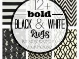 Black and White Round area Rugs where to Buy Bold Black and White Rugs for Any Room