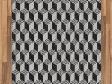 Black and White Woven area Rug Amazon Lunarable Black and White area Rug 3d Style
