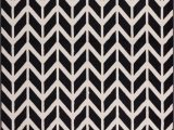Black and White Woven area Rug Bourban Chevron Black Modern Rug Well Woven