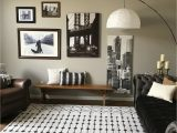 Black area Rugs for Living Room Rhodes Geometric Black Charcoal area Rug