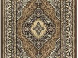 """Black Brown and Beige area Rugs Princess Collection oriental Medallion area Rug 5 2"""" X 7 2"""" Black Brown"""