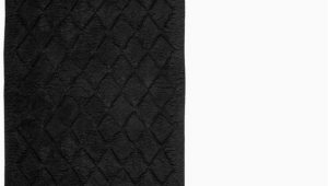 Black Cotton Bath Rug Sleek and Elegant Extra Plush Black Cotton Bath Rug Non Skid