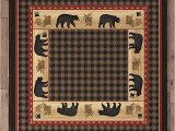 Black forest Decor area Rugs Black forest Decor Bear Tracks Lodge Rug 8 Ft Square In