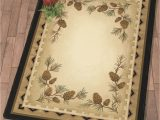 Black forest Decor area Rugs Pine Canyon Trails Rug 3 X 4 Lodge Style Decorating