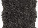 Black Fuzzy Bathroom Rug Costantino Fuzzy High Pile Dark Gray area Rug