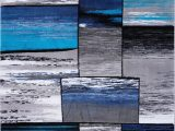 Black Gray Blue area Rug Copper Grey Turquoise area Rug