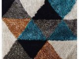Black Gray Blue area Rug Dalvey Geometric Handmade Tufted Gray Blue Black area Rug