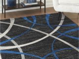 Black Gray Blue area Rug Jenue Black Gray Blue Medium Rug