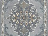 Black Gray Blue area Rug Rizzy Home Resonant Collection Wool area Rug 8 X 10 Gray Light Gray Dark Beige Blue Gray Central Medallion