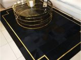 Black White and Gold area Rug Modern Black & Gold Patchwork Cowhide Rug with Croco Frame