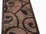 Black White and Tan area Rug Americana Modern Runner area Rug Dark Brown & Black Carpet King Design 154 2 Feet X 7 Feet 3 Inch