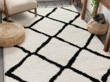 Black White and Tan area Rug Cabana Geometric Black White area Rug