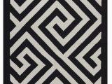 Black White and Tan area Rug Modern Rug 3 X 5 Black White soft Cotton Flatwoven Greek