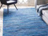 Blue 8 X 10 Rug 8 X 10 Chindi Cotton Rug