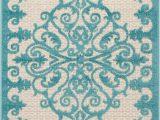 Blue and Aqua Rug Nourison Aloha Aqua Blue and White Textured Indoor Outdoor Rug Alh12 Aqua